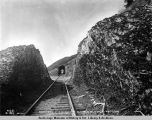 South end of snowshed 76, Alaska N[orthern] Railway, May 11, 1920.