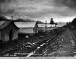Snowshed construction camp 75 1/2, Turnagain Arm, Oct. 12, 1919.