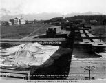 Last of material for Susitna River bridge arrives at Anchorage terminal yard, Sep. 8, 1920.