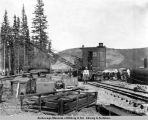 Locomotive crane and assembling yard, June 29th, 1917, Nenana, Alaska.