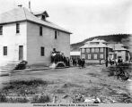 Mess house, bachelor's quarters and general offices, June 29th, 1917, Nenana, Alaska.