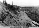 Looking south from cut at Sta[tion] 17856 - mile 374, Aug. 28th, 1917.