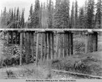 Goldstream bridge (no. 10), mile 460.6, Oct. 13th, 1917, Fairbanks District.