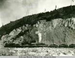 Steam shovel in rock pit near Eklutna.