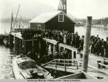 President Harding and party landing at Metlakatla.