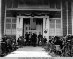 President Harding speaking at Metlakatla.