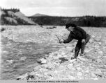 Trout fishing Gulkana River near Paxson.