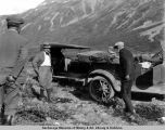 Speaker Gillette and Sec[retar]y Wallace party on Richardson Highway near Valdez.