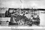 Steamer Lavelle Young landing at Fairbanks, Alaska.