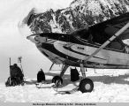 Cessna 180 on wheels/skis.