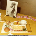 Meal tray on the Anchorage to Seattle inaugural flight, June 1979.