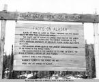 Alaska Department of Highways sign on Alaska Highway.