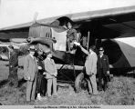 Plane used in first commercial flight between Fairbanks and Nome, June 5, 1925.
