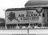 Wien Air Alaska sign celebrating 50 years of service.