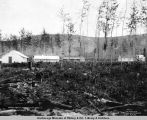 View of hospital, main office and dock, A.E.C., Nenana, Alaska, Aug. 1, 1916.