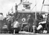 Excursion crowd leaving Nenana, Alaska, July 30th, 1916.