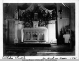 Holy Cross Mission church altar, 1901.