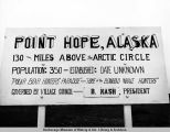Point Hope, Alaska sign.