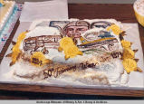 Cake celebrating 50th anniversary of Wien Air Alaska.
