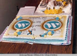 Cake for 50th anniversary of Wien Air Alaska.