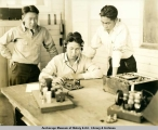 At Eklutna Vocational School, ca. 1940.