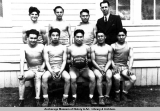 Boys basketball team, 1942-43, Eklutna Vocational School.