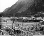 Juneau Indian and white village north of Douglas bridge. 1938.