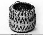 "Yukon River white and green willow basket, 6"" x 8 1/2"" 1938."