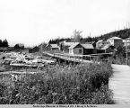 Kassan[sic]. Driftwood and residence area. 1938.
