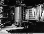 Metlakatla. Salmon packing machinery. Annette Islands [sic] Canning Company. 1938.