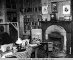 Metlakatla. Sitting room of Reverend Duncan residence, showing foot treadle operated Edison...