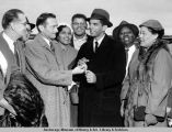 F.H. Williams receives key to city.