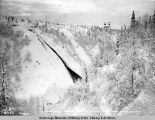 Hurricane Gulch showing cable tramway. March 6 - 1921.