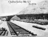 Chulitna station. Mile 275. Dec. 19 - 1920.