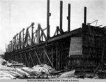 Susitna River bridge. Nov. 29 - 1920.