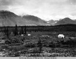 Fourth of July Creek camp looking south near mile 300. Gov't R[ail]road location.