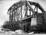 Susitna River bridge - Dec. 8 - 1920. South end.