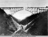 Hurricane Gulch bridge. Aug. 8 - 1921.