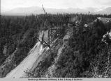 Start of Hurricane bridge construction. 1920.