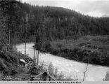 Looking down Kings River from tunnel no 1. July 21 - 1921.