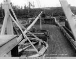 View of forward deck of barge Lawrence. July 25 - 1921.