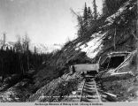 Station work at mile 266. A[laska] N[orthern] R[ail]road. May 22 - 1920.