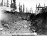 Station work at mile 282-283. May 25 - 1920.