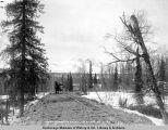 South approach to Susitna River bridge. May 20 - 1920. Mile 264.