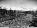 South approach to Susitna River bridge. Mile 264. May 14 - 1921.