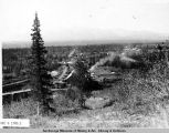 View of Hurrican[e] Gulch looking north. 6/25 - 1921.
