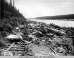 Mile 237-5. May 17 - 1921. After the ice run in Susitna River.