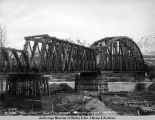 Susitna bridge after the ice run. May 16 - 1921.