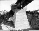 South end pier Hurricane Gulch bridge. June 19 - [19]21. Abutment no. 1.