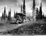 Caterpillar no. 1 freighting from mile 285 for construction camps. June 20 - 1921.